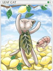 Leaf Cat Card