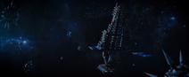 DSC S02E09 Airiam exposed to the vacuum of space
