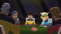 LD S01E04 Mariner playing poker with the seniors