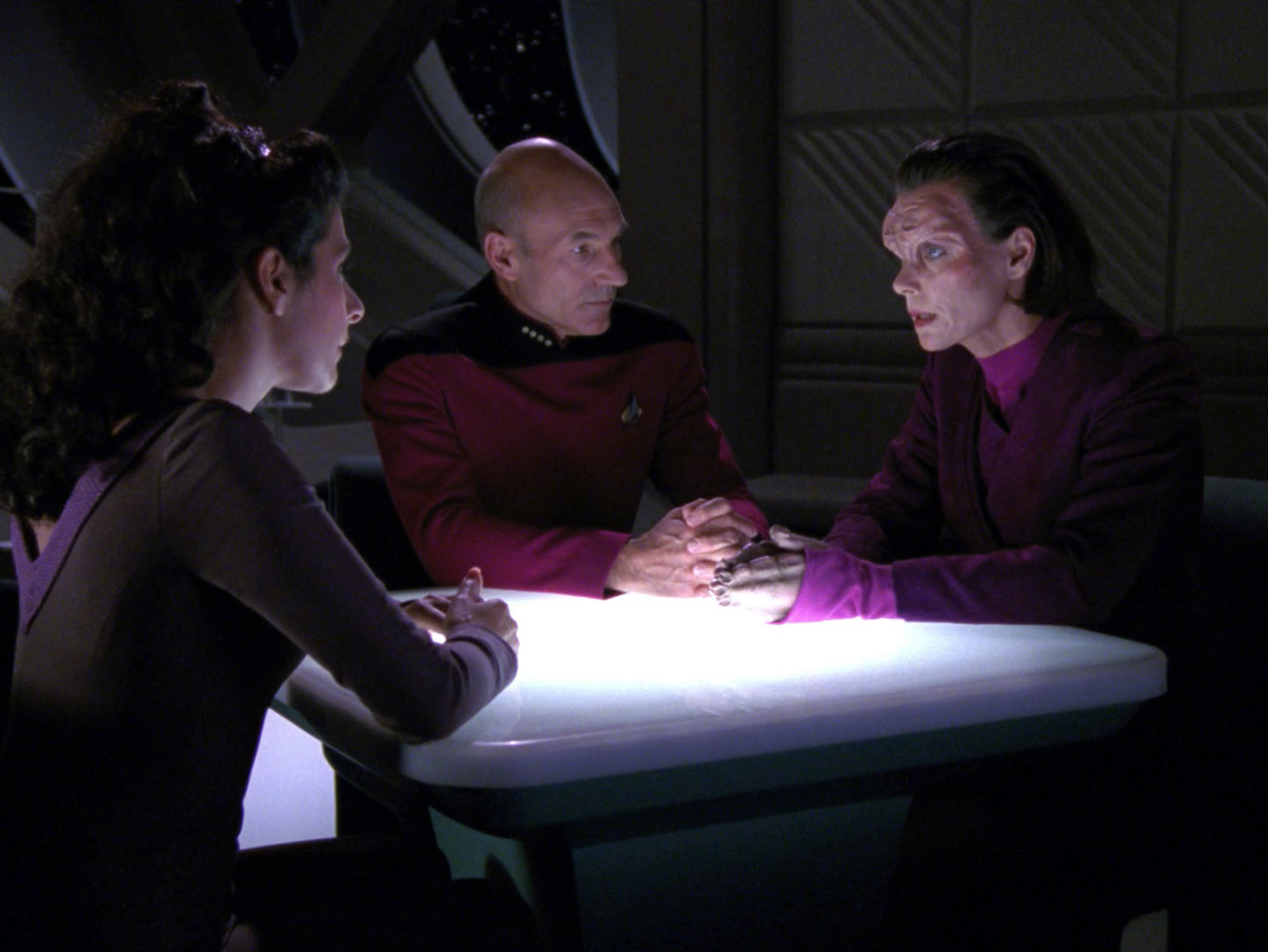 Image result for star trek tng first contact mirasta yale