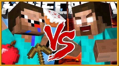 Noob vs Herobrine - Minecraft-0