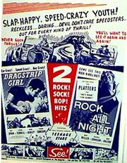 Dragstrip Girl Rock All Night double feature poster