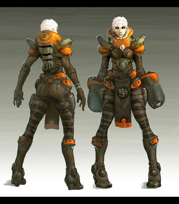 Yuki - Armor and Gauntlets
