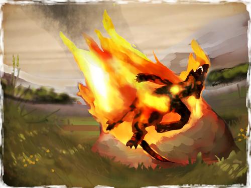 Burning Kobold