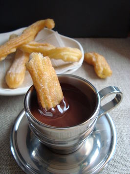 Churros and hot chocolate 3