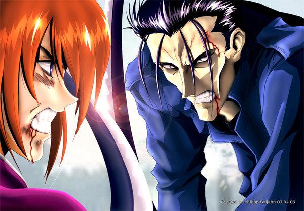 File:Saito versus kenshin by abbadon82.jpg