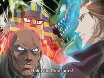 Taiyou Sphinx vs. Hakushu Dinosaurs (Episode 101)