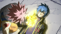 Jellal gives Natsu the Gold Fire