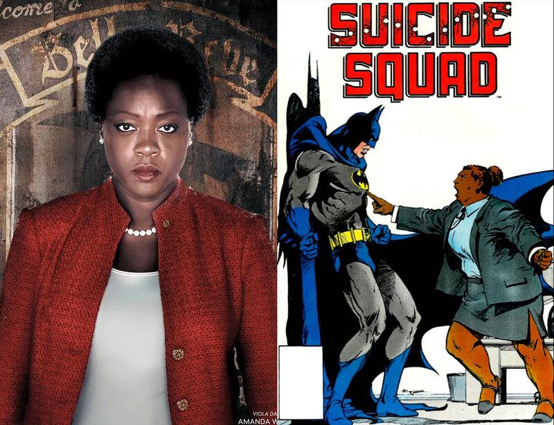 Amanda Waller Suicide Squad Comics Movie Comparison