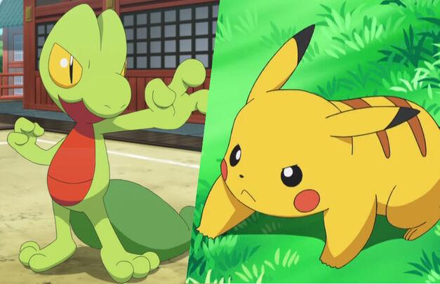 Treecko vs Pikachu