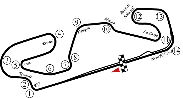 circuit de barcelona catalunya the formula 1 wiki fandom powered by wikia. Black Bedroom Furniture Sets. Home Design Ideas
