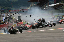 2012 Belgian Grand Prix First Lap Accident