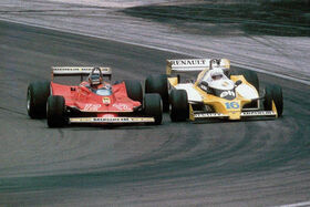 Villeneuve Arnoux 1979 French Grand Prix 1