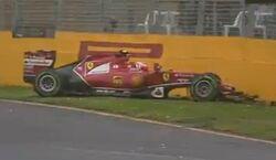 Australia2014 Raikkonen Q2 crash