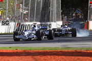 Heidfeld and Rosberg - 2008 Melb GP