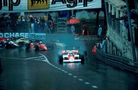Start 1984 Monaco Grand Prix