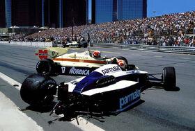 Piquet Surer 1984 Detroit Grand Prix