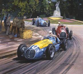 1948 Fangio painting