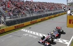 2012 Canadian Grand Prix Hamilton Wins
