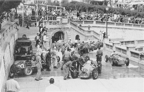 Image result for 1950 Monaco Grand Prix crash