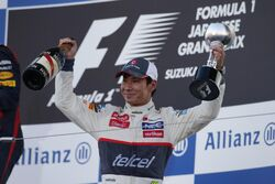 Kamui Kobayashi Japan 2012 Podium