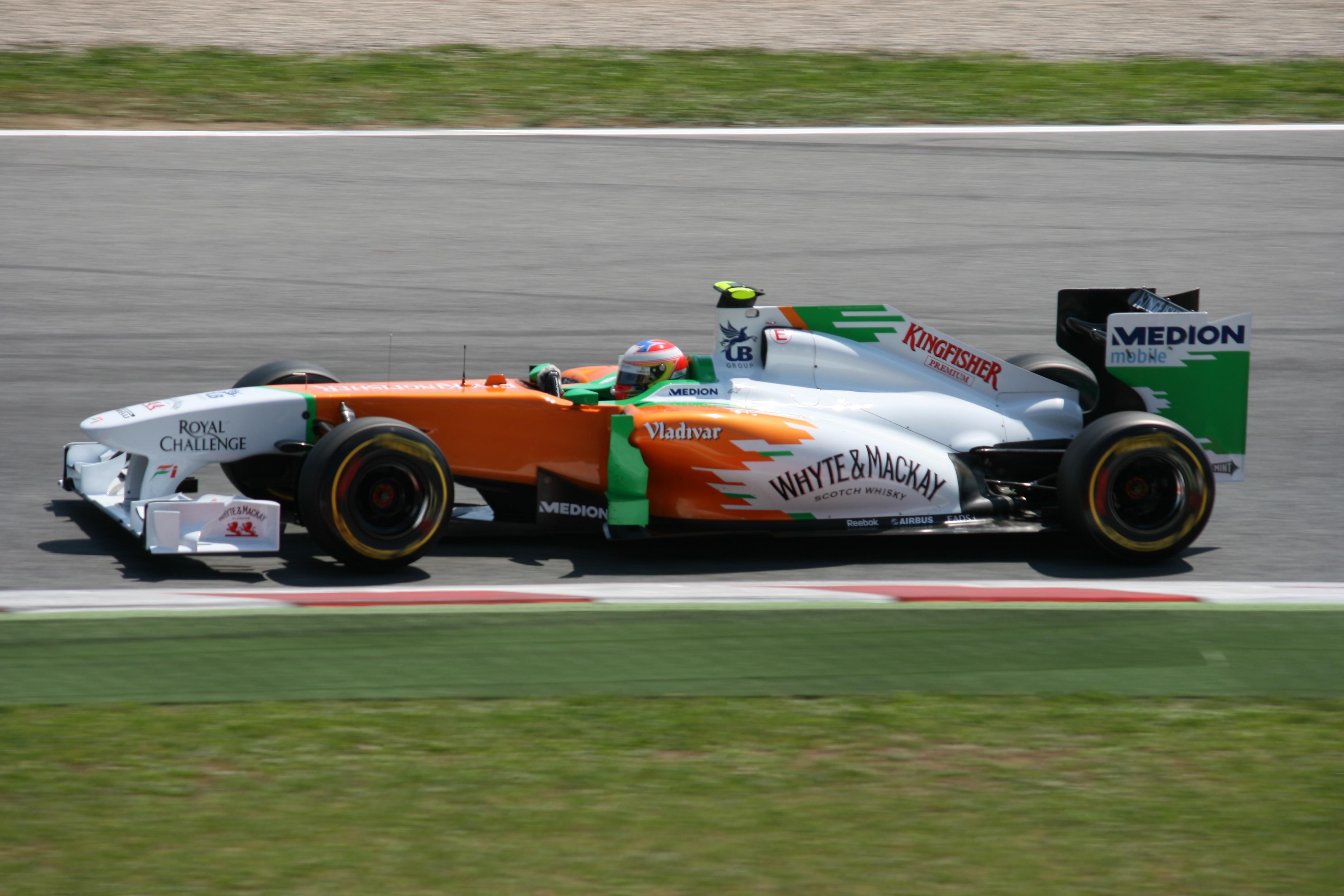 14 A Sutil Formel 1 Show Car 2010 Force India No