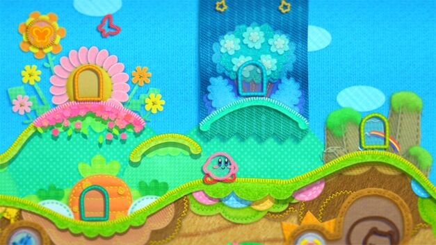 Kirby and his world get an arts and crafts makeover in Kirby's Epic Yarn.
