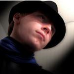 Black Hat Blue Scarf