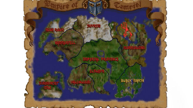 Elder Scrolls Arena map