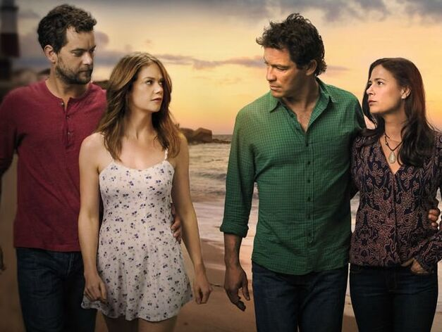 Joshua Jackson, Ruth Wilson, Dominic West, and Maura Tierney in The Affair.
