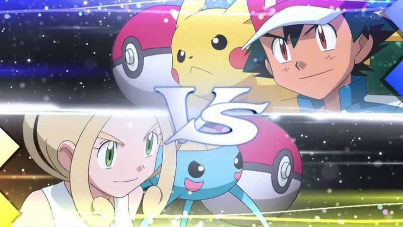 Ash vs another Pokemon trainer