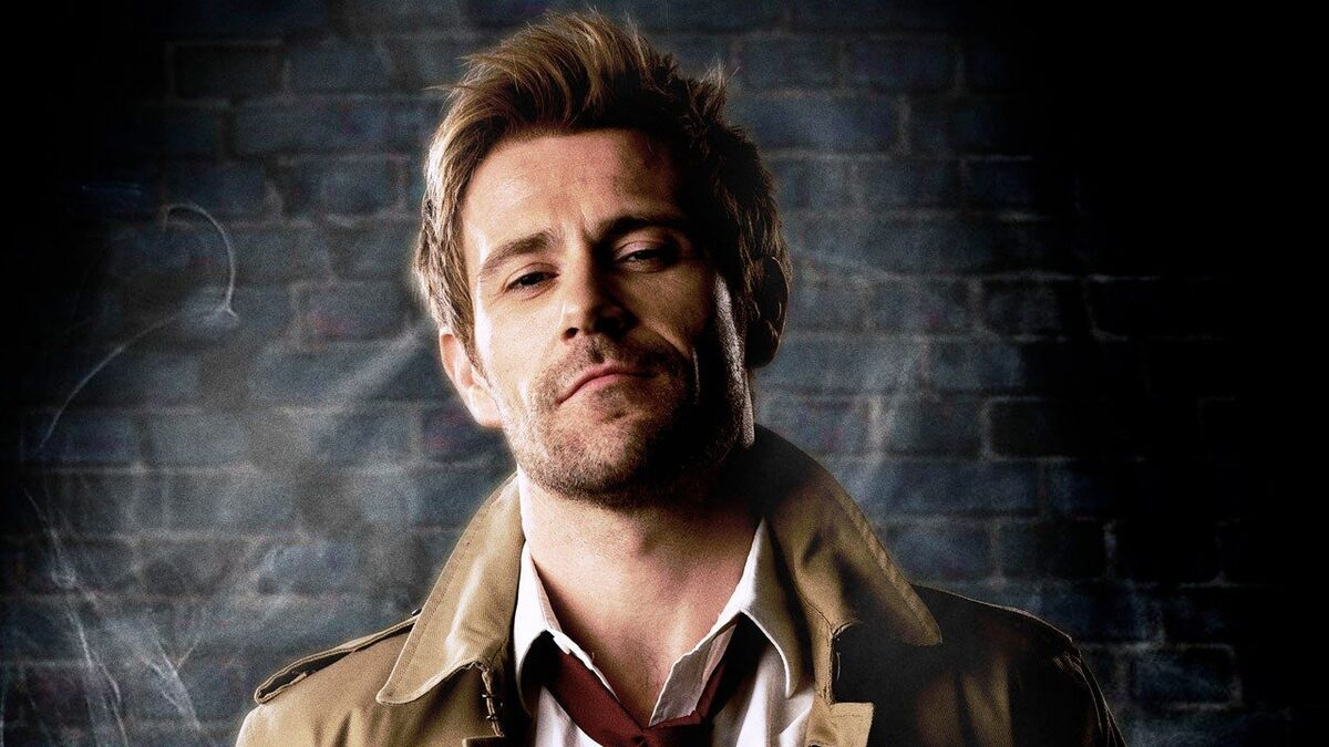 John Constantine with smug look on face