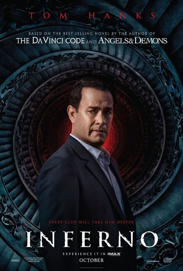 Inferno will be available in 3D and IMAX