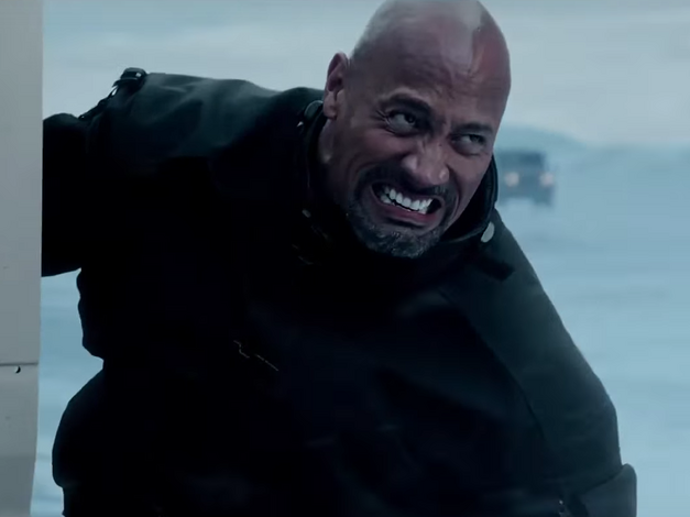 the-rock-literally-pushes-a-torpedo-with-his-bare-hands fate-of-the-furious