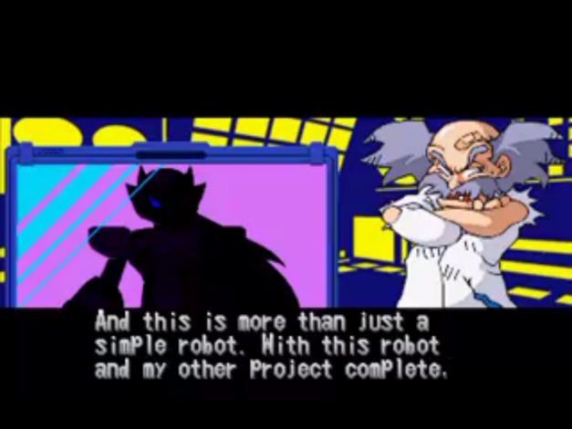 Dr. Wily discussing the creation of Zero.