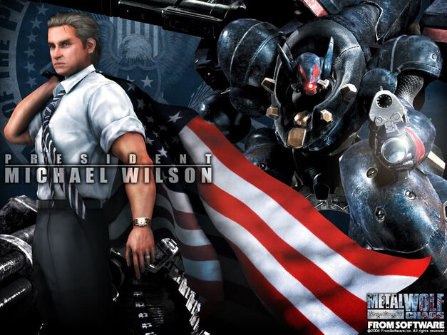 Metal Wolf Chaos President Patriotic