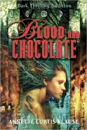 Blood and Chocolate novel cover art.
