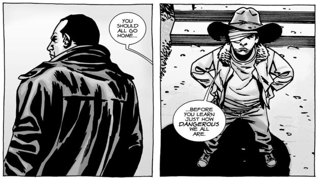 Negan and Carl