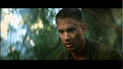 Forrest gump running people out of battle