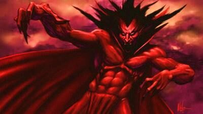 mephisto devil vampire-looking comic with seriously ripped abs and a cape