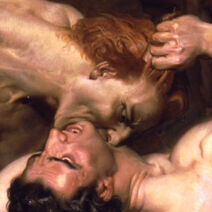 William Adolphe Bouguereau - Dante And Virgil In Hell (detail)