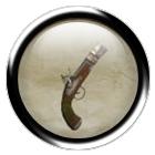 Iron flintlock pistol