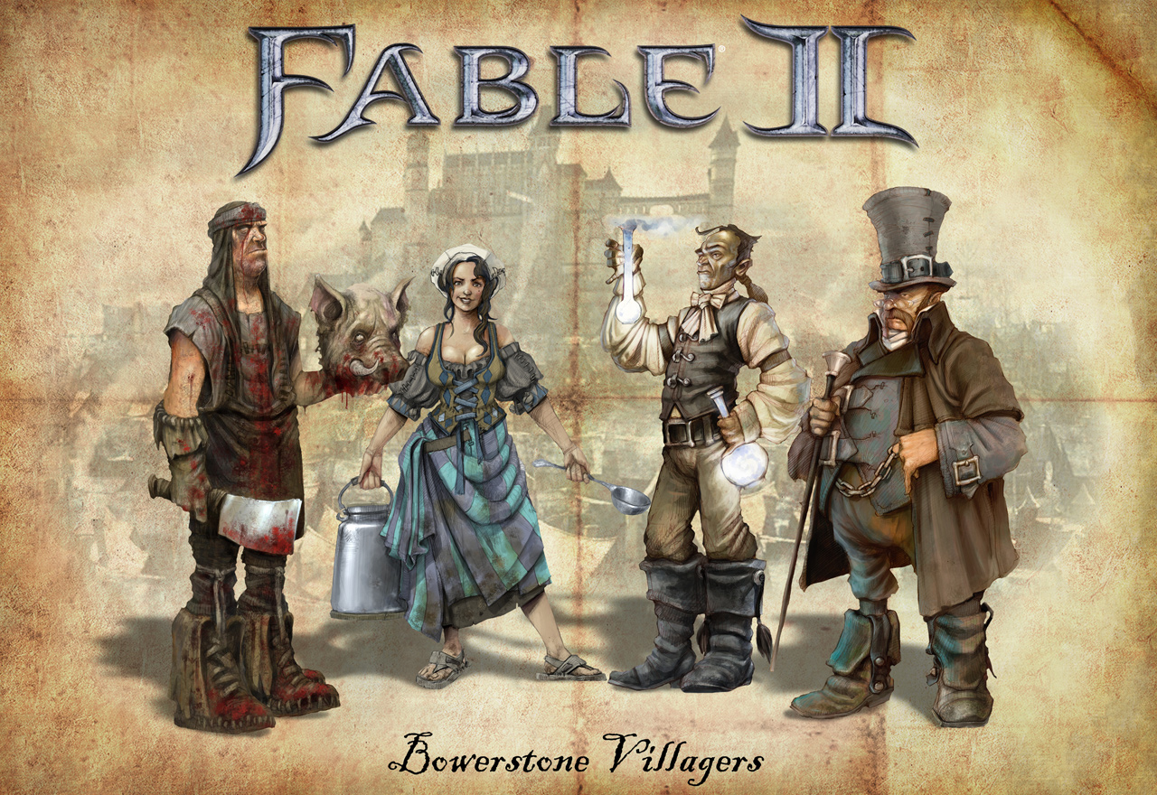 Image Fable 2 bowerstone people 2jpg The Fable Wiki FANDOM