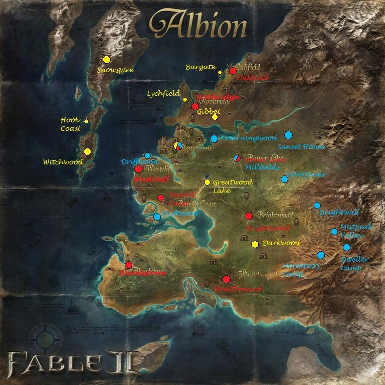 Fable 3 Map User blog:Enodoc/Geography of Albion | The Fable Wiki | FANDOM  Fable 3 Map
