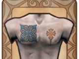Big Blue Box Chest Tattoo