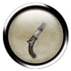 Steel flintlock pistol
