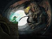 Chamber of Fate Fresco - Dragon