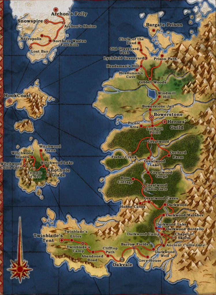 Albion the fable wiki fandom powered by wikia map of albion at the time of the hero of oakvale sciox Gallery