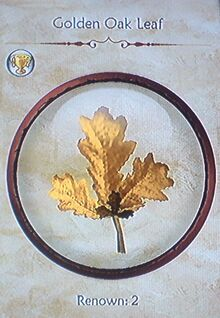 Golden Oak Leaf
