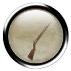 Iron flintlock rifle
